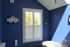 Waterproof Split Tilt Shutters Fitted in Bathroom