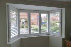 Interior Shutters Fitted to Angled Bay Window