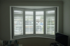Living Room Round Bay Window with Shutters Fitted