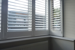 Plantation Shutters Fitted to Square Bay Window