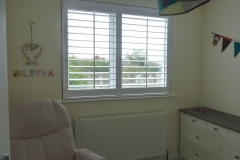 Shutters Fitted to Nursery Bedroom Window