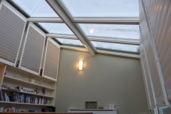 Open Shutter Panels on Conservatory Roof