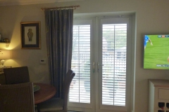 Shutters only (no frame) mounted to patio doors