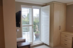 Open door shutter on bedroom patio door