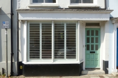 Tall Shutters On Ground Floor Window For Privacy