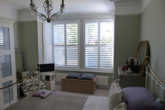 White Shutters Fitted to Square Bay Window in Living Room