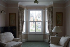 Half Height Shutters in Angled Bay Window in Lounge