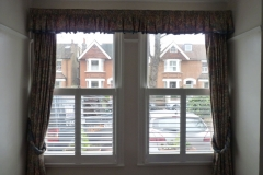 Half Height Plantation Shutters in Two Windows