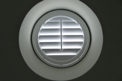 Bespoke Shutters Fitted to Round Porthole Window