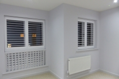 Pair of Wooden TPost Shutters with Hidden Tilt