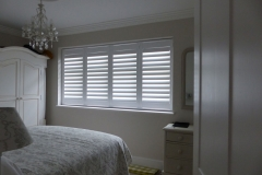 Four Panel TPost Shutter in Bedroom