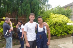 Sam Dunster and Peter Andre on set for ITV 60 minute makeover