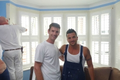 Sam Dunster and Peter Andre on set for ITVs 60 Minute Makeover