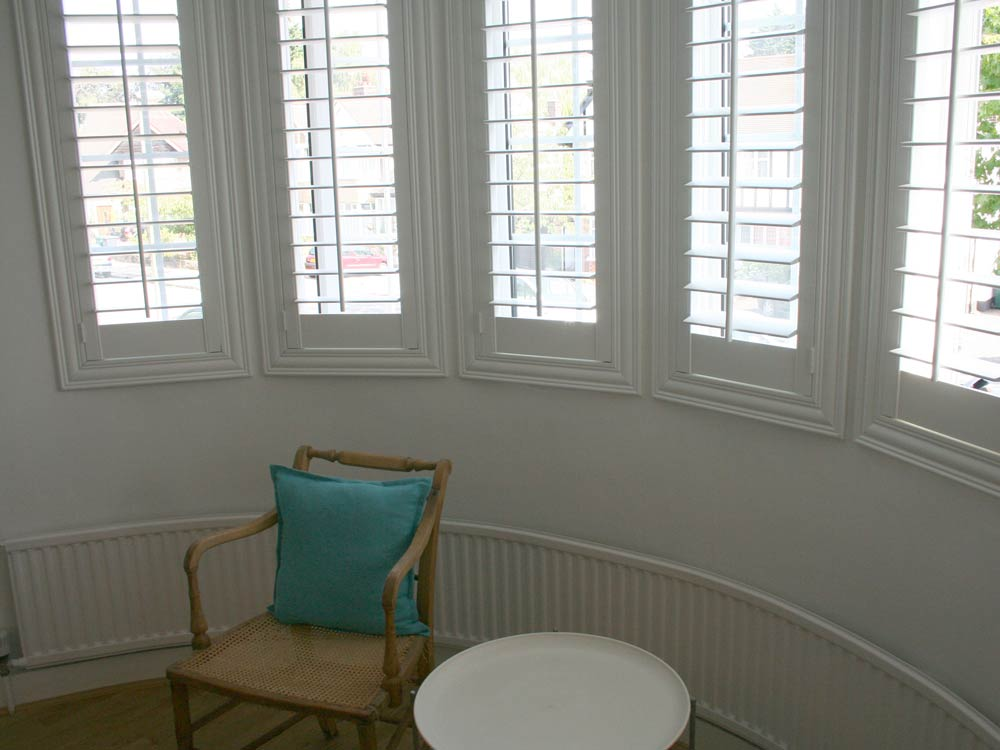 Round bay shutters fitted for C4 The Home Show with George Clark