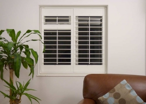 Large 89mm louvred window shutter