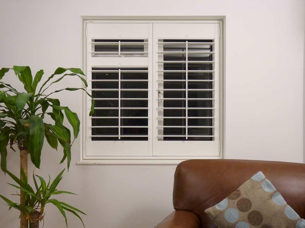Large 89mm louvred window shutter