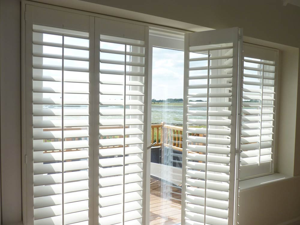 Bi-folding french door shutters