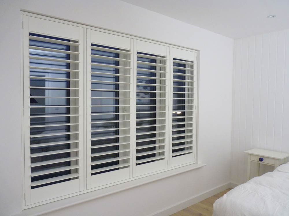 Shutter blinds in a bedroom