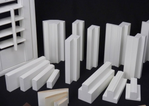 Various sections of shutter frames