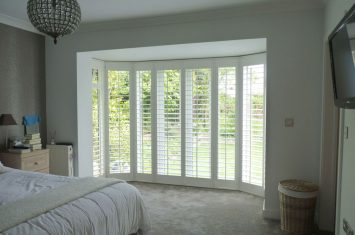 Wooden shutters save space and cut costs