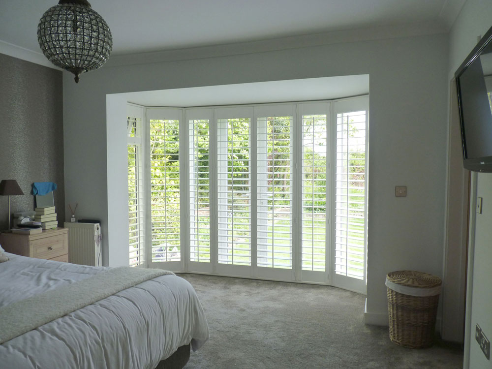 Wooden shutters on doors