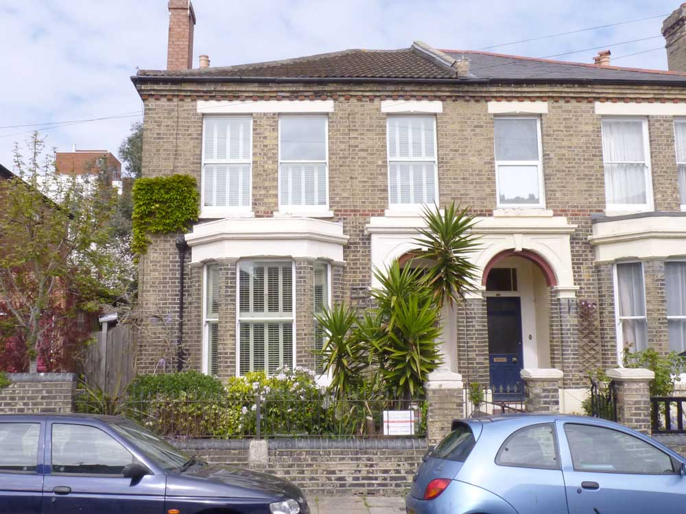 Southsea home with plantation shutters