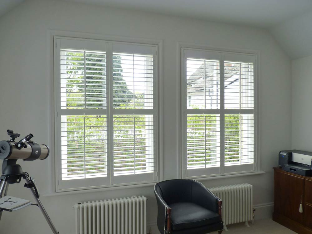 Modern study with shutters