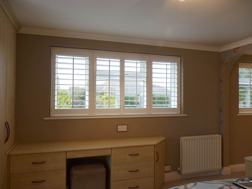 Bedroom internal shutters