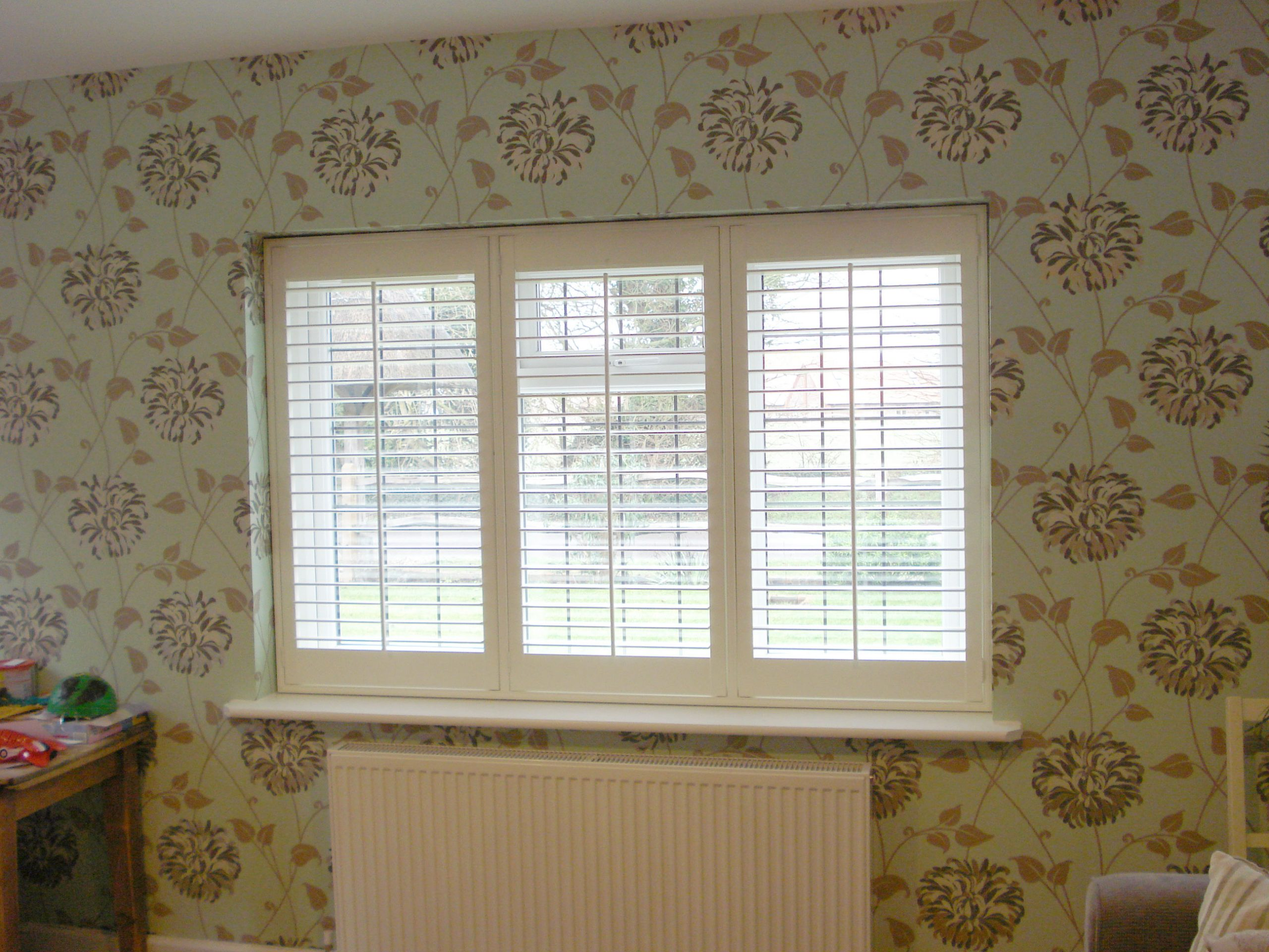3 Section UPVC window with Shutters and Tposts