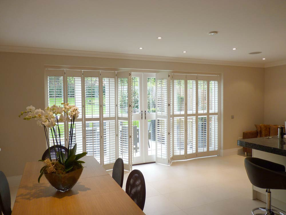 Kitchen doors with track shutters