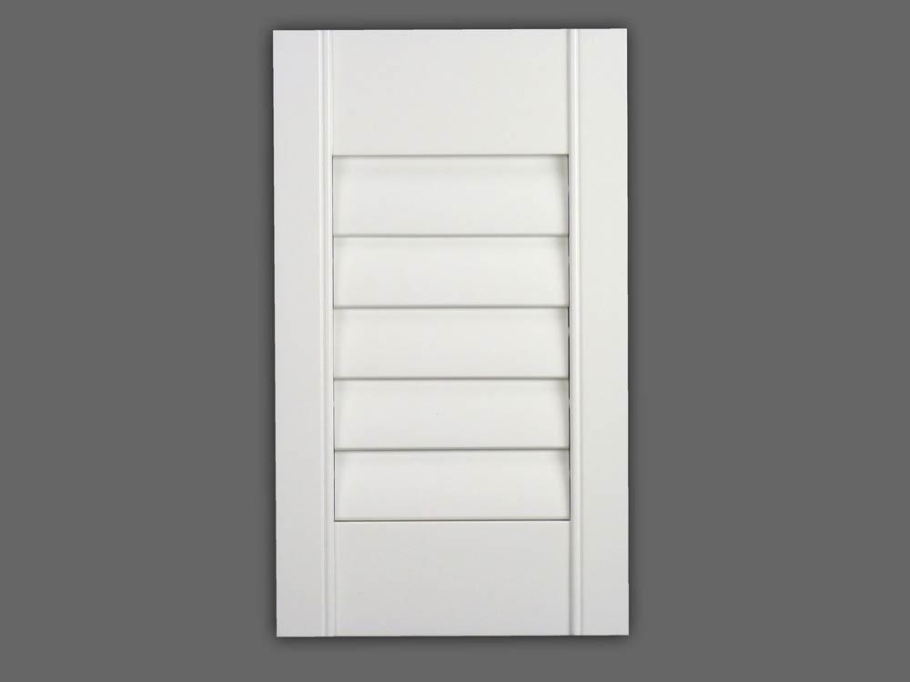 Window shutter panel with hidden tilt rod