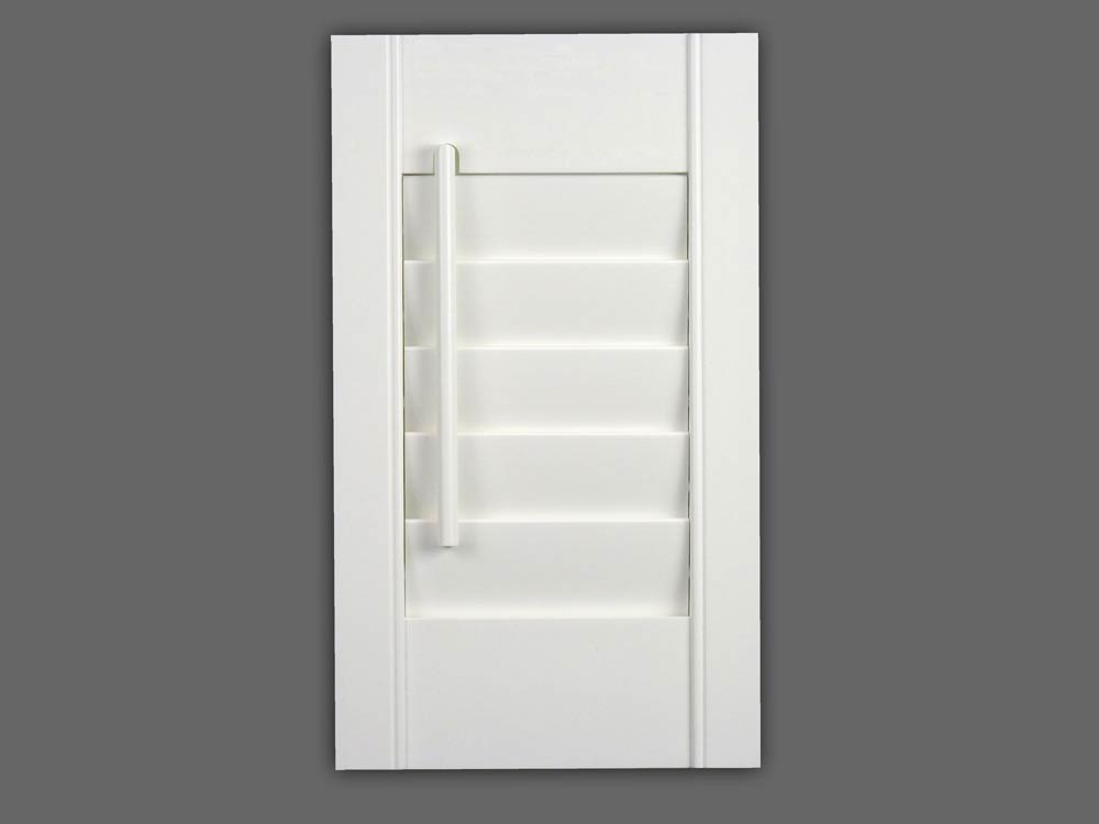 Window shutters with off set control rods