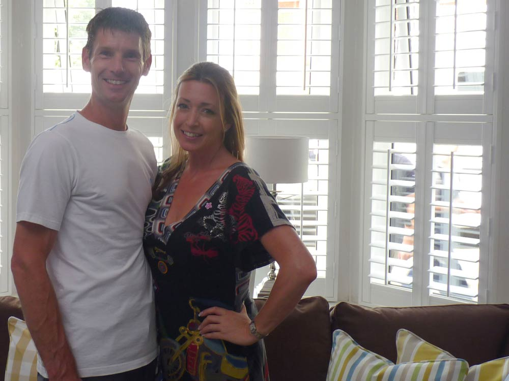 Sam Dunster and Julia Kendell on a 60min makeover show in Southampton