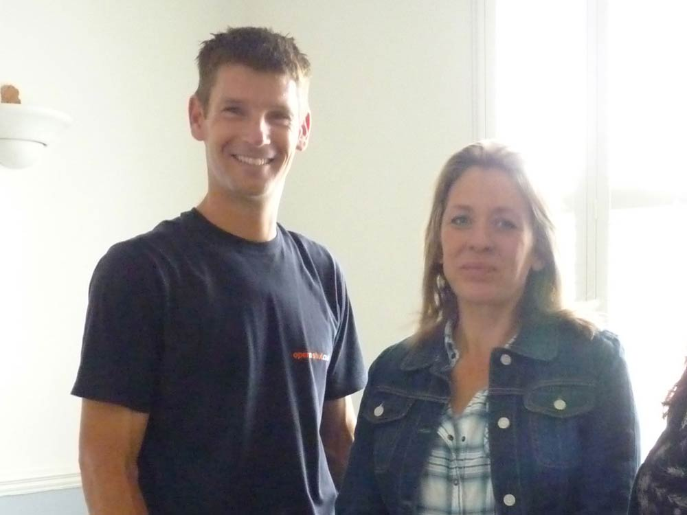 Sam Dunster with Sarah Beeny on Channel Four
