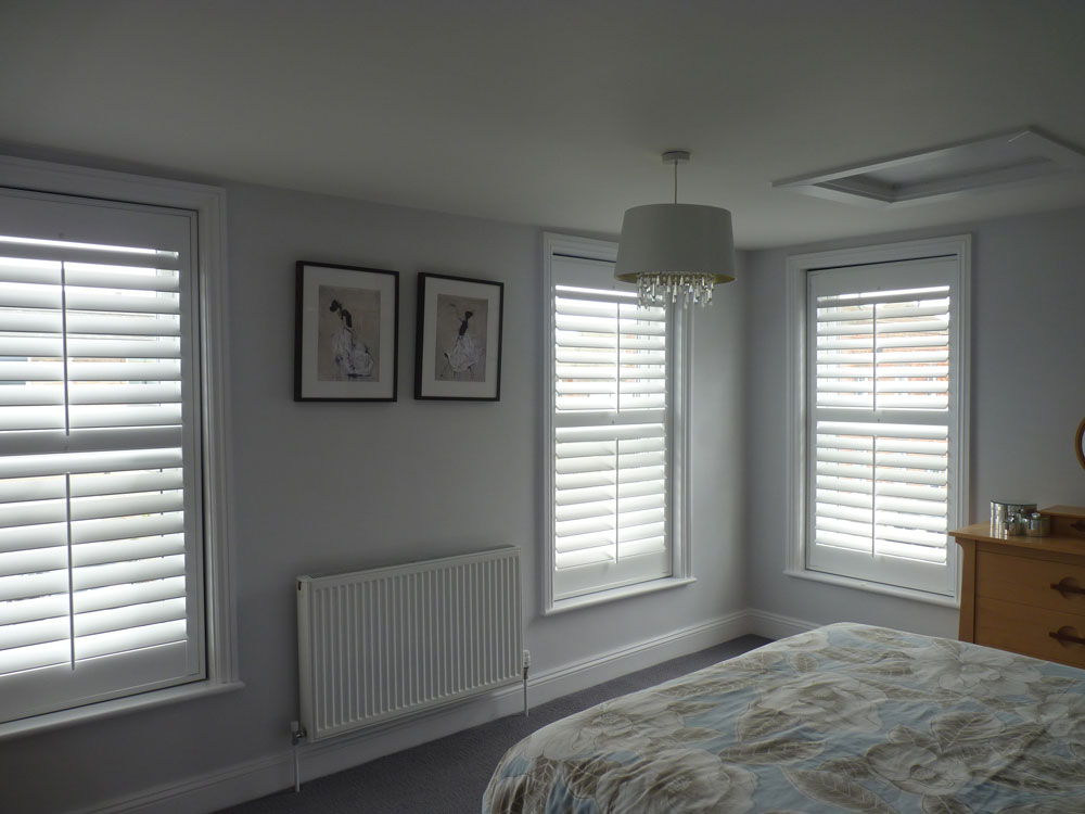 Shutters Fitted to Three Windows in Bedroom