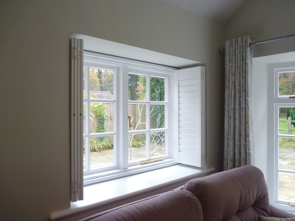 Shutter panels opennshut for Bifold interior window shutters