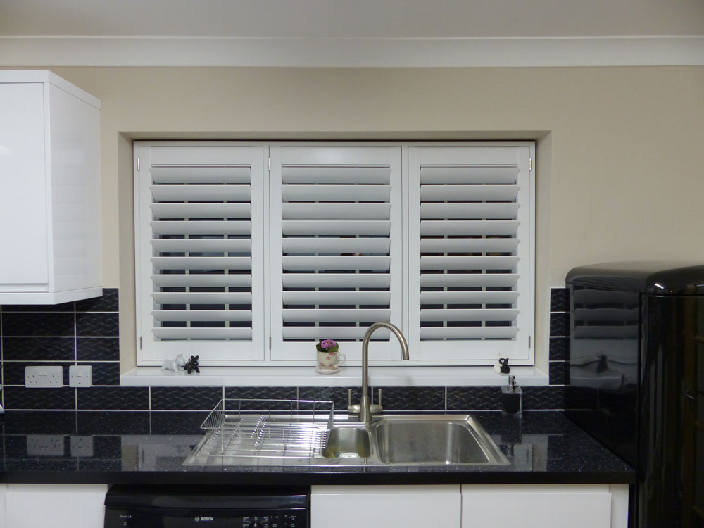 Three Panel TPost Shutter Fitted in Kitchen