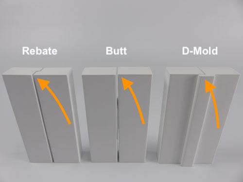 Rebate Butt Dmold Stile Design