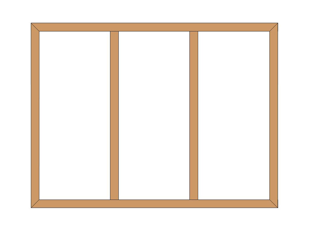 4 sided shutter frame with Tposts