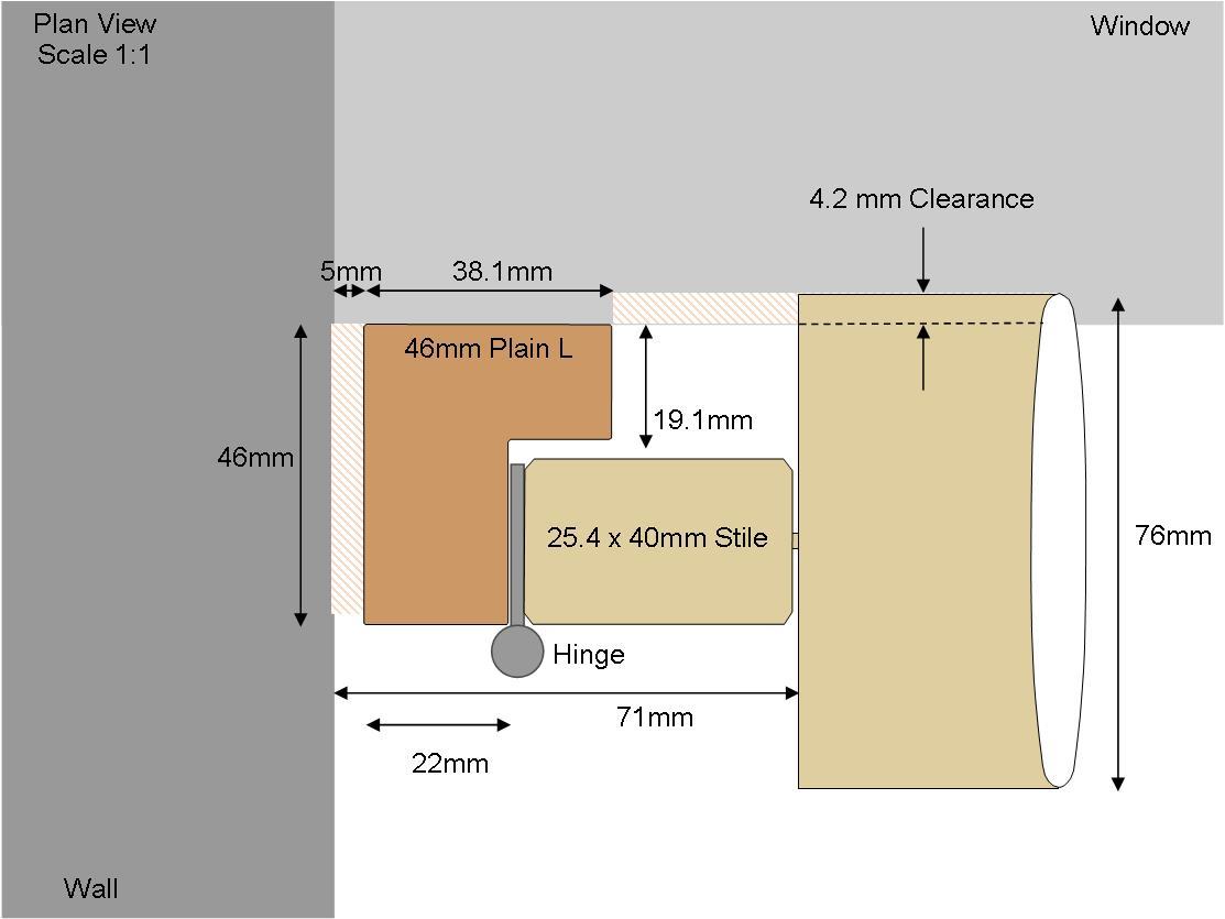 Plain 46mm L Frame