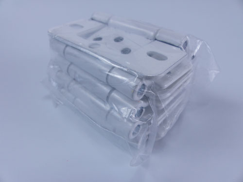 Pack of white shutters hinges
